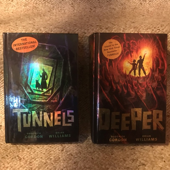 Scholastic Other - Book Bundle: TUNNELS & DEEPER by Roderick Gordon